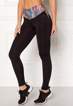 Drop of Mindfulness Bow II Training Tights Black/Pleat Print Bubbleroom.dk