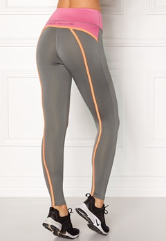 Drop of Mindfulness Bow II Training Tights Grey/Pink Bubbleroom.dk