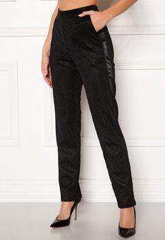 DRY LAKE Abigail Trousers 008 Black Glitter Bubbleroom.se