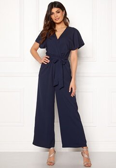 DRY LAKE Ada Jumpsuit Navy Jaquard Bubbleroom.se