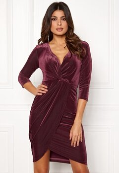 DRY LAKE Angelina Dress 608 Burgundy Bubbleroom.se