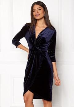 DRY LAKE Angelina Dress Navy Velvet Bubbleroom.se