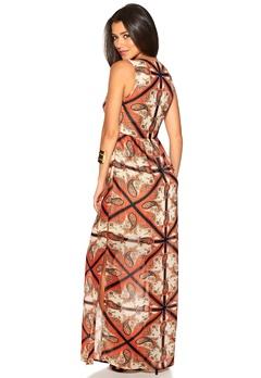 DRY LAKE Antoinette Long Dress Royal Bubbleroom.no