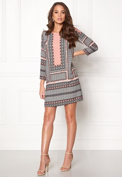 DRY LAKE Attraction Sleeve Dress 993 Labyrinth Print Bubbleroom.se