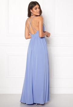 DRY LAKE Blue Love Long Dress Light Blue Bubbleroom.se