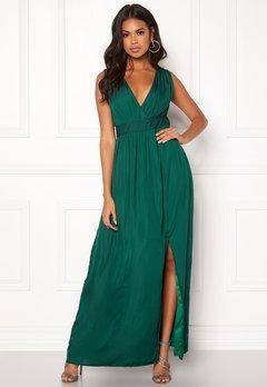 DRY LAKE Callie Long Dress Dark Green Bubbleroom.se