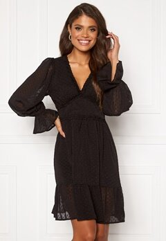 DRY LAKE Cassandra Dress 275 Black Chiffon Ja Bubbleroom.se