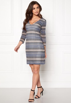 DRY LAKE Fall In Love Dress 400 Blue Bubbleroom.se