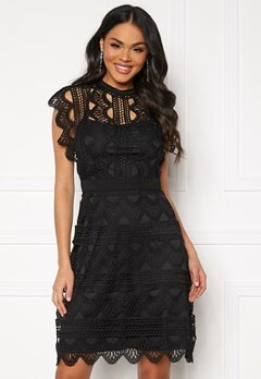 DRY LAKE Ira Dress 040 Black Crochet La Bubbleroom.se