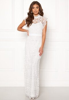 DRY LAKE Irma Long Dress White Crochet Lace Bubbleroom.se