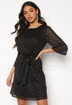 DRY LAKE Katie Dress 034 Gold Dot Black C Bubbleroom.se