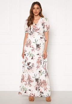 DRY LAKE Kimchi Long Dress 843 White Pink Flowe Bubbleroom.se