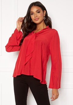 DRY LAKE Malley Blouse 600 Red Bubbleroom.se