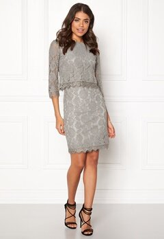 DRY LAKE Malou Dress Light Grey Bubbleroom.se