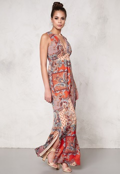DRY LAKE Max Long Dress Orange Summer Sky Bubbleroom.se