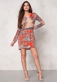 DRY LAKE Max Short Dress Orange Summer Sky Bubbleroom.se