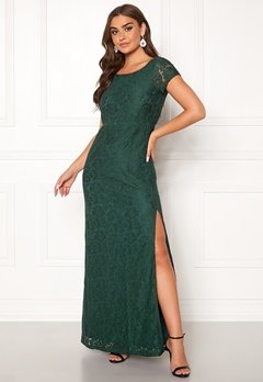 DRY LAKE Mira Long Dress 325 Emerald Green Bubbleroom.se