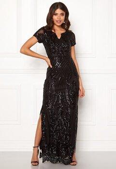 DRY LAKE Miramis Long Dress 001 Black Bubbleroom.se
