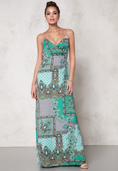DRY LAKE Mix Long Strap Dress Green It Bubbleroom.se