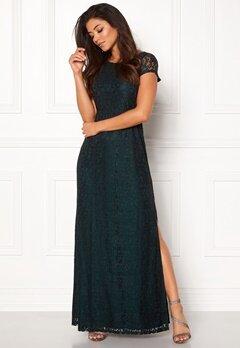 DRY LAKE Mysticus Long Dress Dark Green Lace Bubbleroom.se