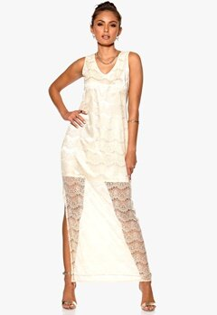 DRY LAKE Olivia Long Lace Dress Off White Lace Bubbleroom.se