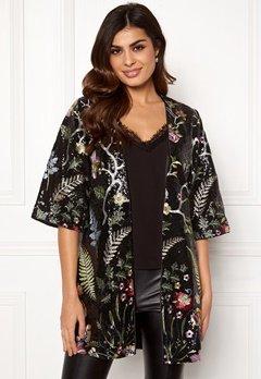DRY LAKE Paola Kimono 024 Black Garden Bubbleroom.se