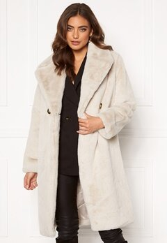 DRY LAKE Smoothie Long Jacket 125 Offwhite Faux F Bubbleroom.se