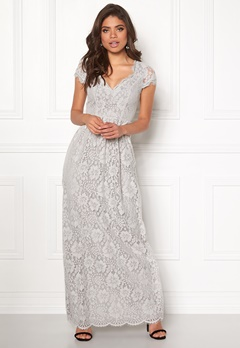 DRY LAKE Summer Date Long Dress Grey Lace Bubbleroom.se