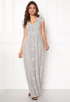 DRY LAKE Summer Date Long Dress Grey Lace Bubbleroom.fi