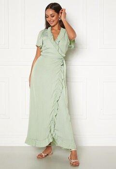 DRY LAKE Takita Ankle Dress 329 Mint Green Satin Bubbleroom.se