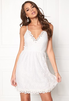 DRY LAKE True Love Strap Dress 100 White Bubbleroom.se