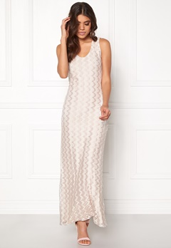 DRY LAKE Valentine Long Dress 994 Beige Zigzag Bubbleroom.se
