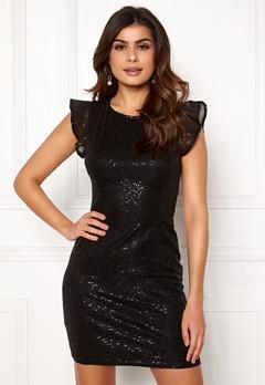 ONLY Duna Frill Short Dress Black Bubbleroom.se