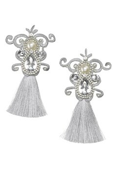 WOS Dynasty Earrings Silverfärgad Bubbleroom.no