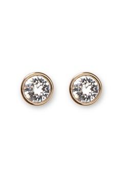 Dyrberg/Kern Noble Crystal Earrings Gold Bubbleroom.se