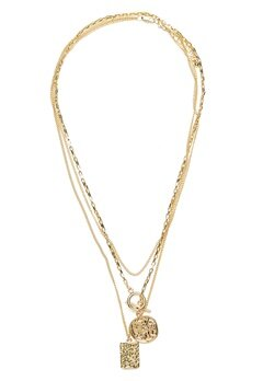 Pieces Elda Combi Necklace Gold Bubbleroom.se