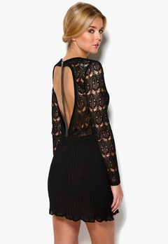 DAGMAR Elisa Lace Dress Black Skin Tone Lini Bubbleroom.se