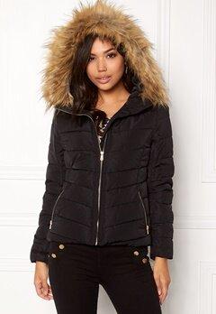 ONLY Ellan quilted Fur Jacket Black Bubbleroom.se