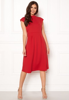 VILA Ellery S/L Dress Racing Red Bubbleroom.se