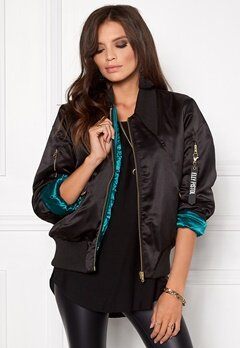 Elly Pistol Jungle Bomber Jacket Black Bubbleroom.se