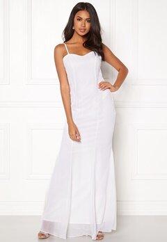 SUSANNA RIVIERI - CERIMONIA DONNA Embellished Chiffon Dress Navy Bubbleroom.no