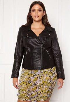 Only Carmakoma Emmy Faux Leather Biker Black Bubbleroom.se