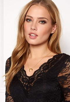 NORR by Erbs New Moon Necklace Gold Bubbleroom.fi