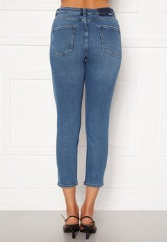 ONLY Erica Life Mid Ank Jeans Dark Blue Denim Bubbleroom.se