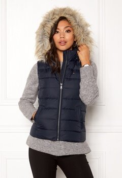 TOMMY HILFIGER Essential Hooded Vest Black Iris Bubbleroom.se