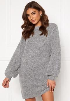 OBJECT Eve Nonsia Knit Dress Light Grey Melange Bubbleroom.se