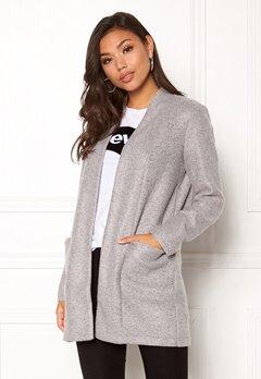 Jacqueline de Yong Evita Jacket OTW Light Grey Melang Bubbleroom.se