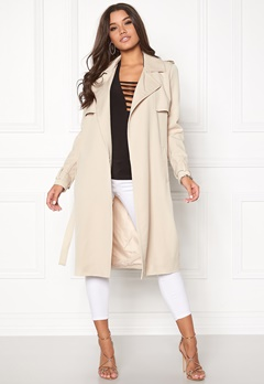 VERO MODA Export New Long Jacket Oatmeal Bubbleroom.no