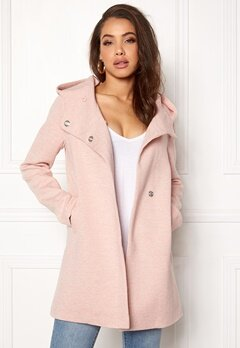 ONLY Fairy Mel Hooded Long Coat Rose Smoke Bubbleroom.se