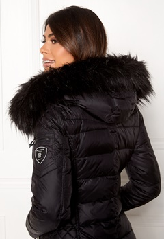 ROCKANDBLUE Faux Fur Trim Black Bubbleroom.se